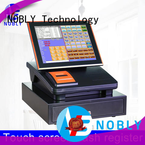 NOBLY 12 inch capacitive touch screen cash register C86C orange/black simple POS