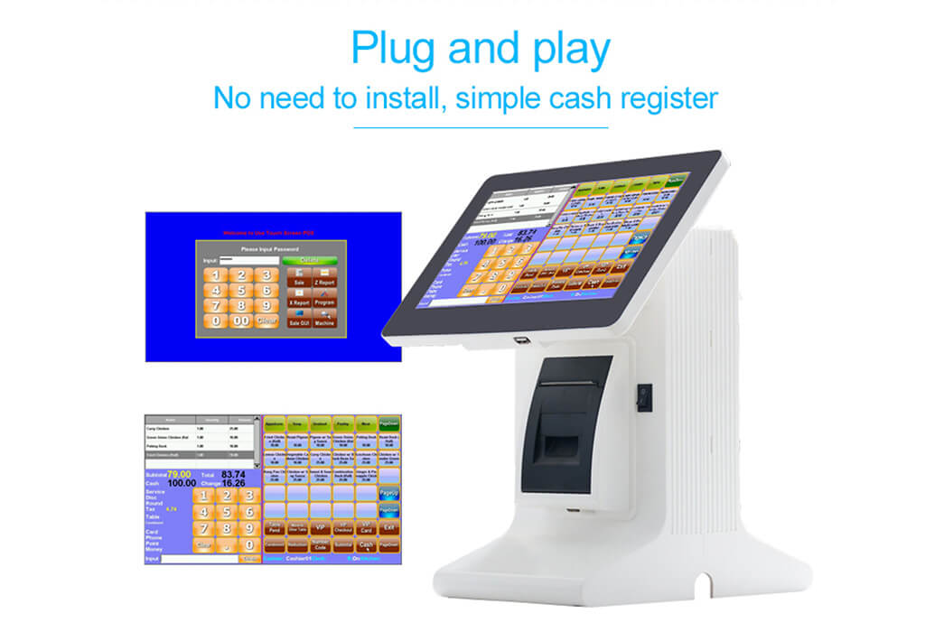 NOBLY Technology-Cafe Pos, 101 Inch Touch Screen Pos Cash Registers With 8 Digits-3