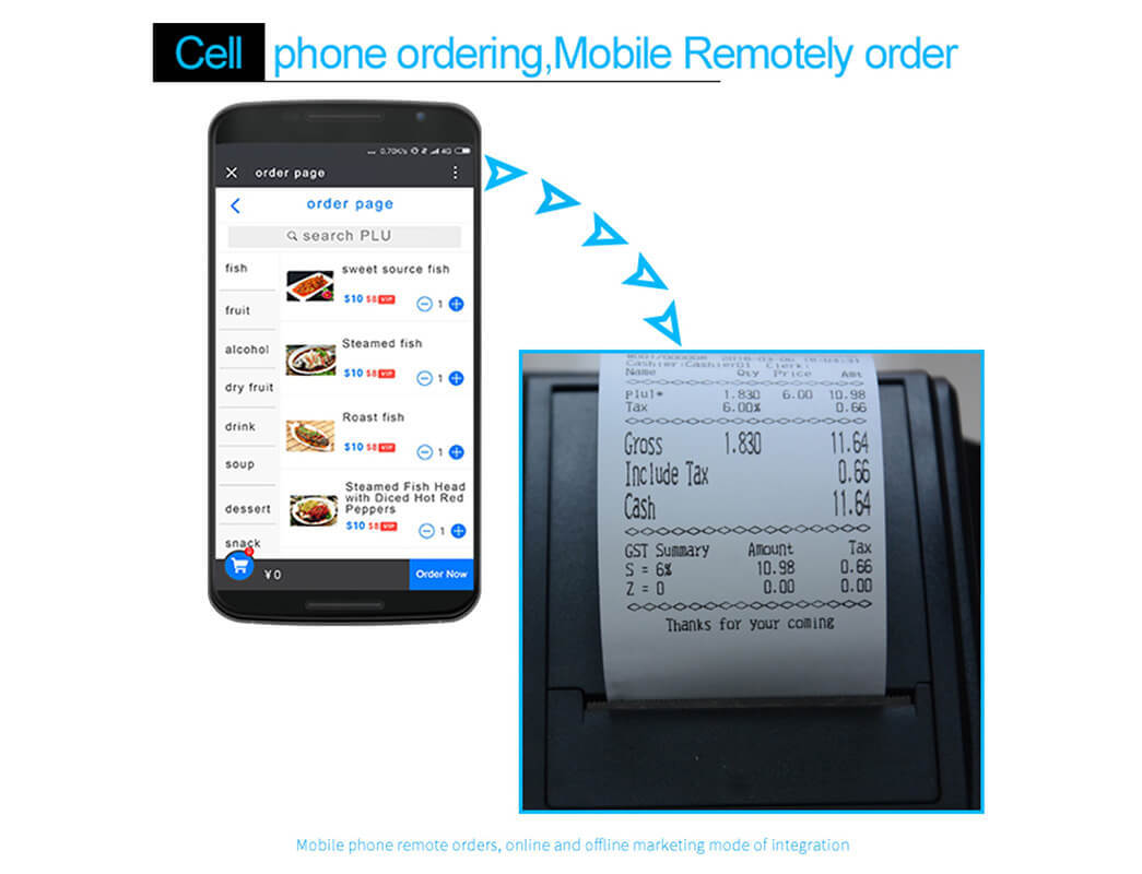 NOBLY Technology high stability sharp electronic cash register certifications for F&B catering