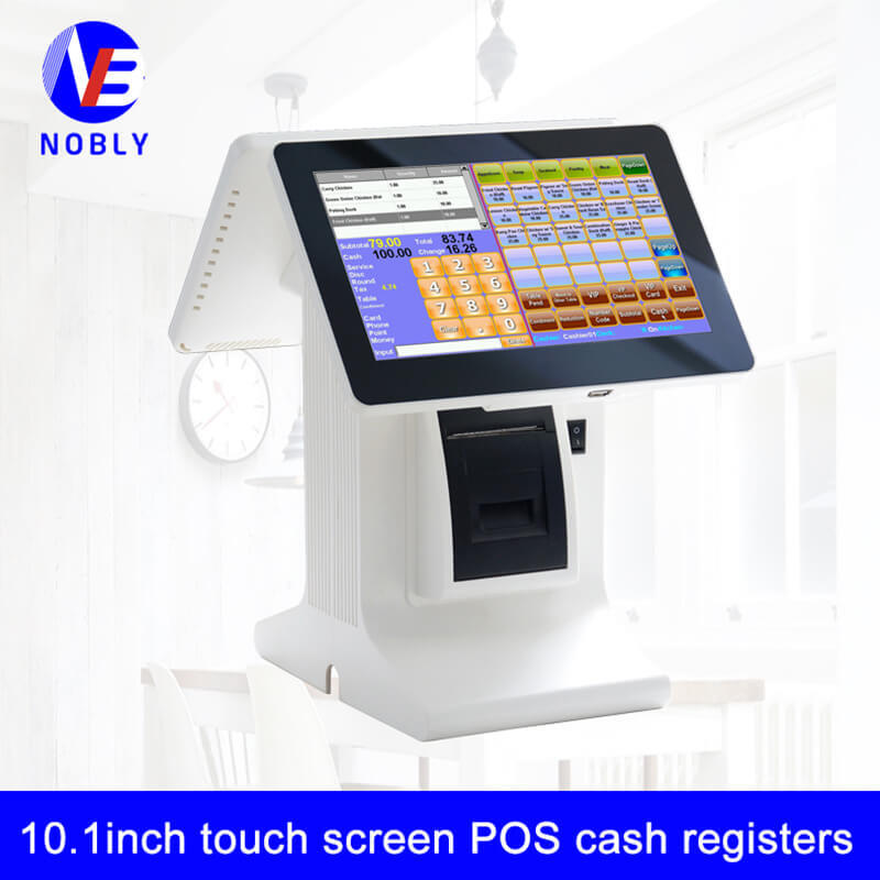 NOBLY dual screen 10.1 inch touch screen POS cash registers E86A simple