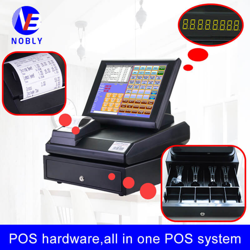 NOBLY 12 inch resistive touch screen cash register C86E simple POS system