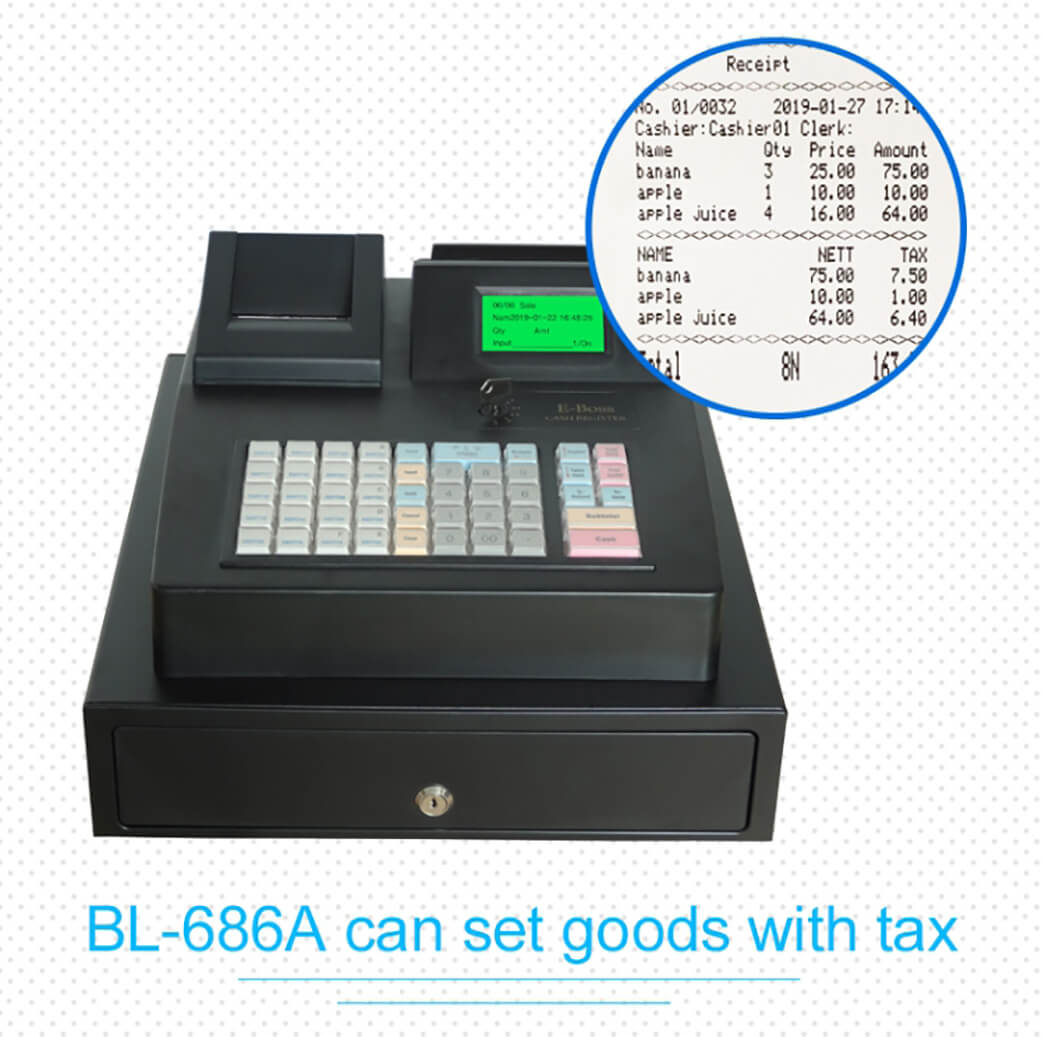 NOBLY Technology-Nobly Bl-686a Electronic Cash Register Machine Keyboard Type-5