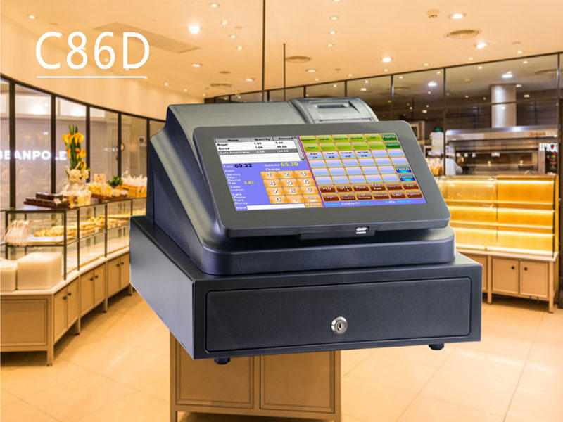 NOBLY cash register devices used in the bakery shop