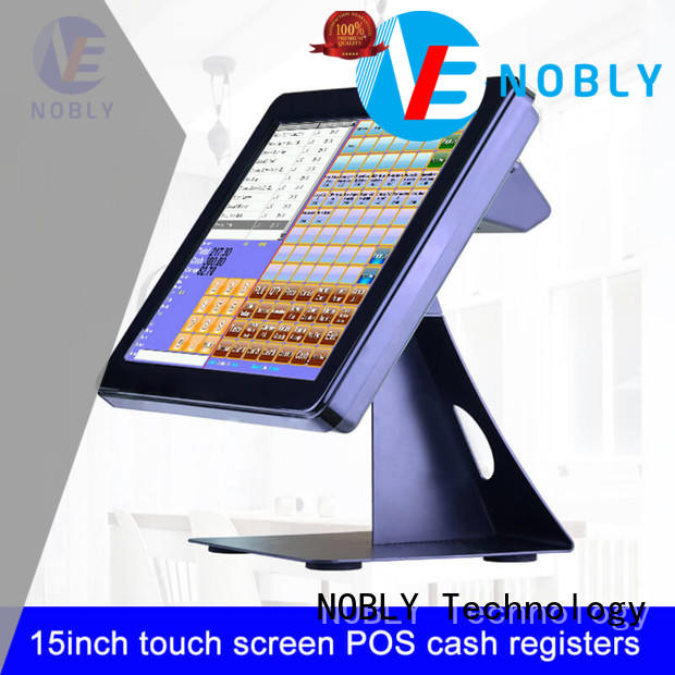 NOBLY Technology smooth operation 15 inch simple touch screen cash register long-term-use for coffee shop