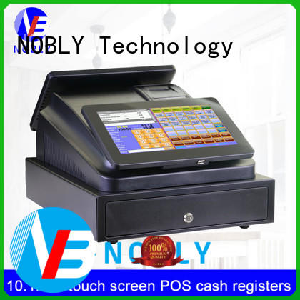 NOBLY dual 10.1 inch capacitive touch screen POS cash registers C86A simple POS system