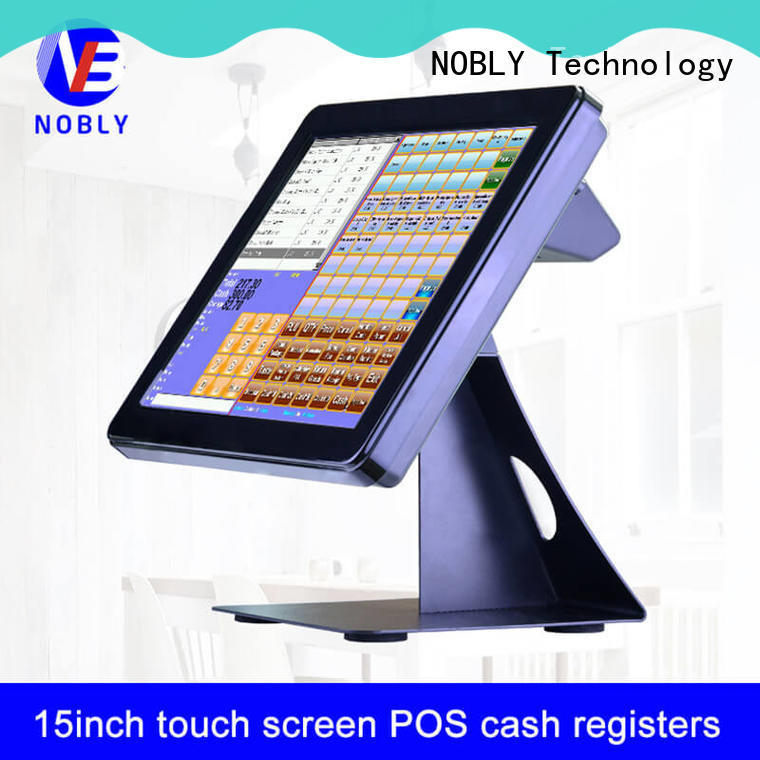 NOBLY Technology high-energy 15 inch simple touch screen cash register for-sale for F&B catering
