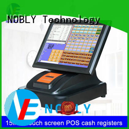 NOBLY Technology powerful function 15 inch simple touch screen cash register anticipation for F&B catering