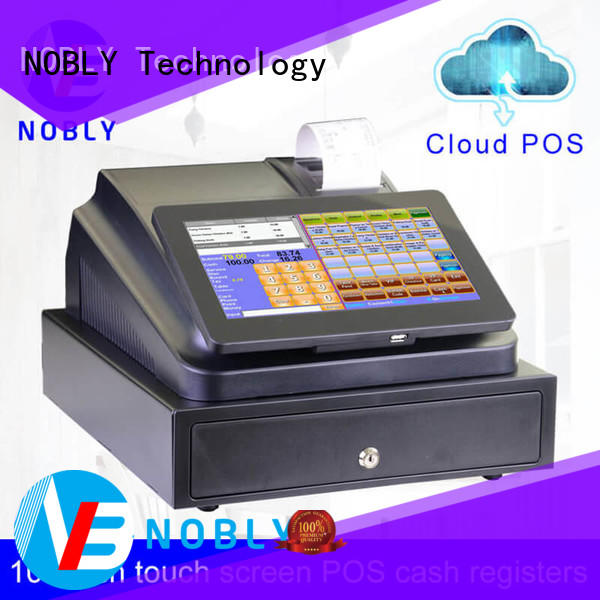 NOBLY Technology high-efficient 10.1 inch cloud touch screen cash register from China restaurant