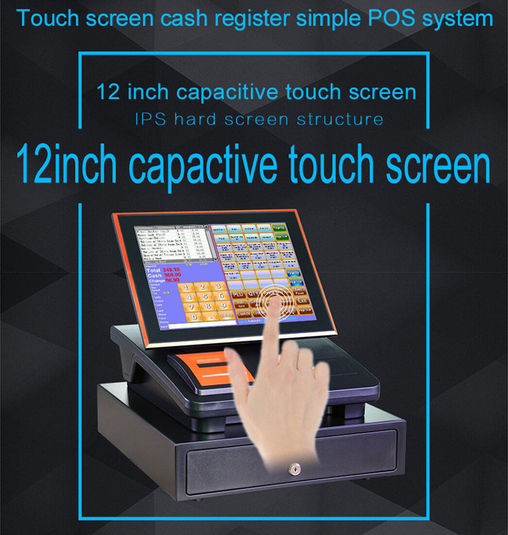 NOBLY Technology-Cash Register Receipt | 12 Inch Capacitive Touch Screen Register-1