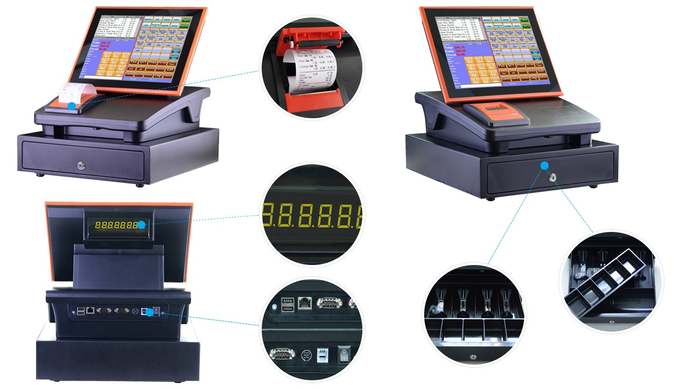 nice sharp electronic cash register pos certifications for canteen-6