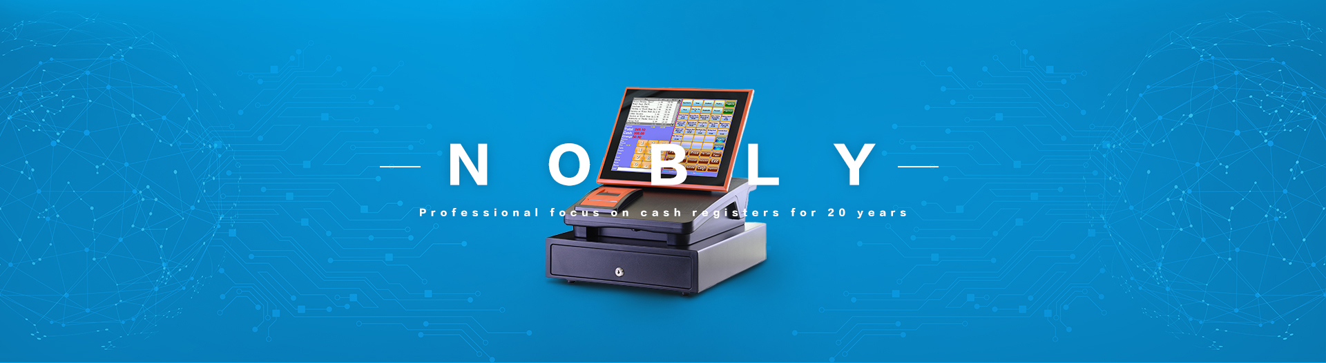 NOBLY dual 10.1 inch capacitive touch screen POS cash registers C86A simple POS system-NOBLY Technology