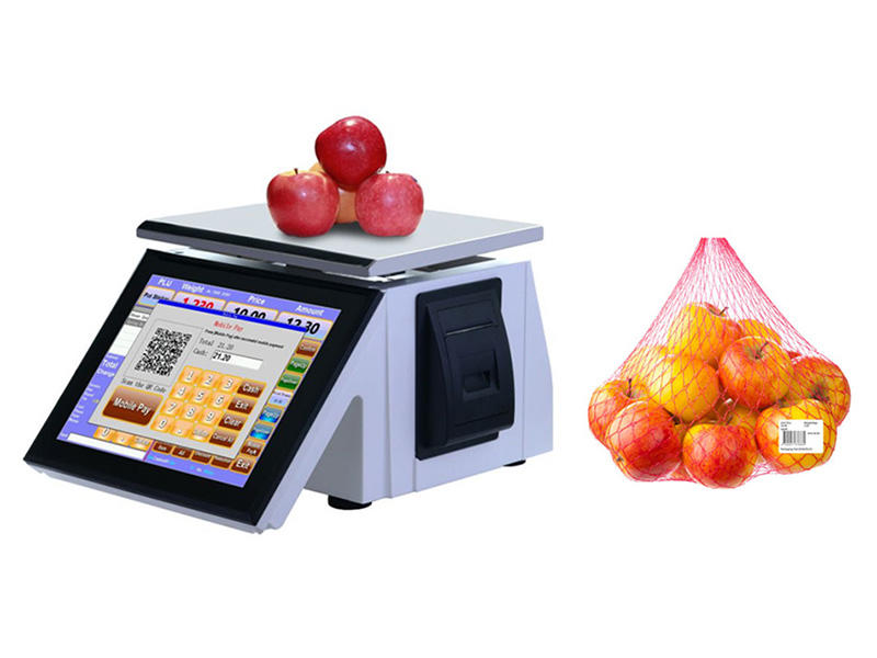 NOBLY touch screen cash register scale T86E used in Weighing retail store Weighing check out PLU and pre-packed goods