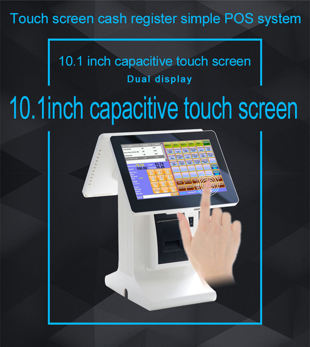 NOBLY Technology-Best Restaurant Pos, Nobly Register With 101 Inch Dual Screen-1
