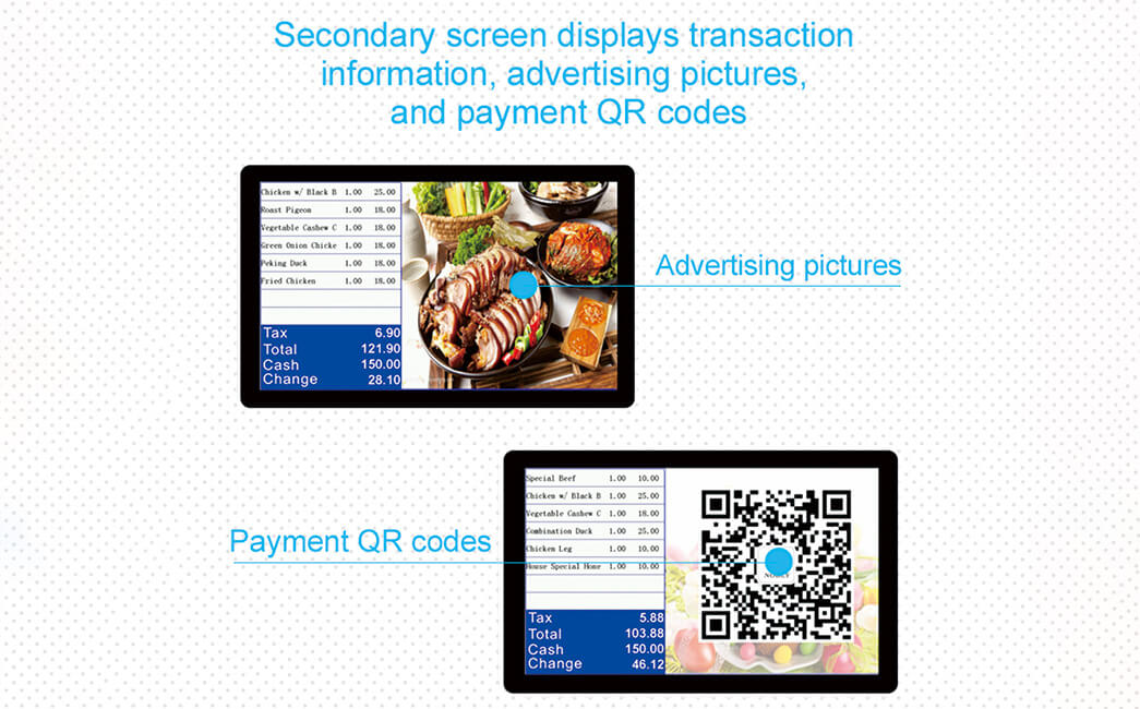 NOBLY Technology-Nobly Dual 101 Inch Touch Screen Pos Cash Registers| Bar Pos-2