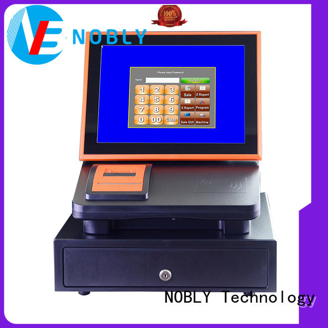 NOBLY 12 inch capacitive touch screen cash register C86C orange/black POS online