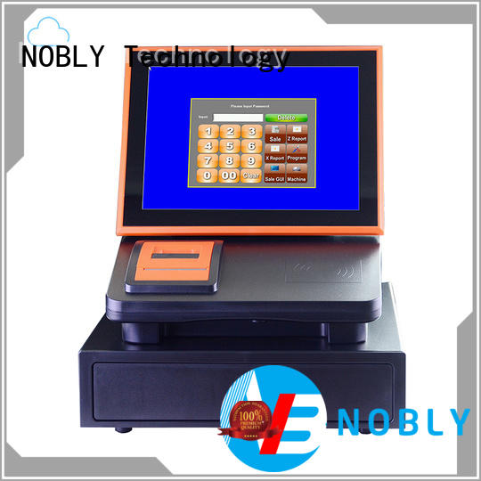 NOBLY Technology inch sharp electronic cash register certifications for retail business