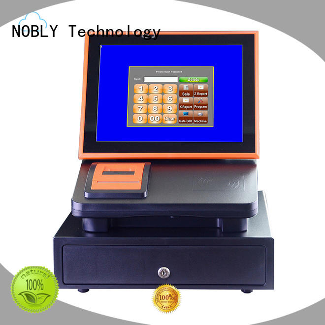 Custom sharing black 12 inch cloud touch screen cash register NOBLY Technology capacitive