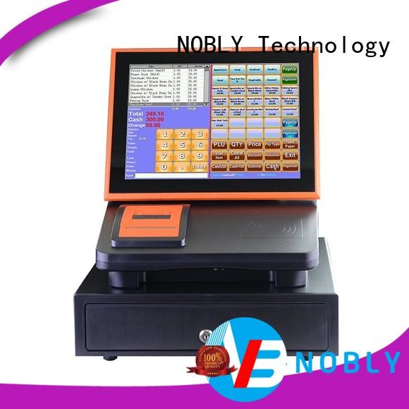 NOBLY Technology powerful function 12 inch simple touch screen cash register cost for small businessb