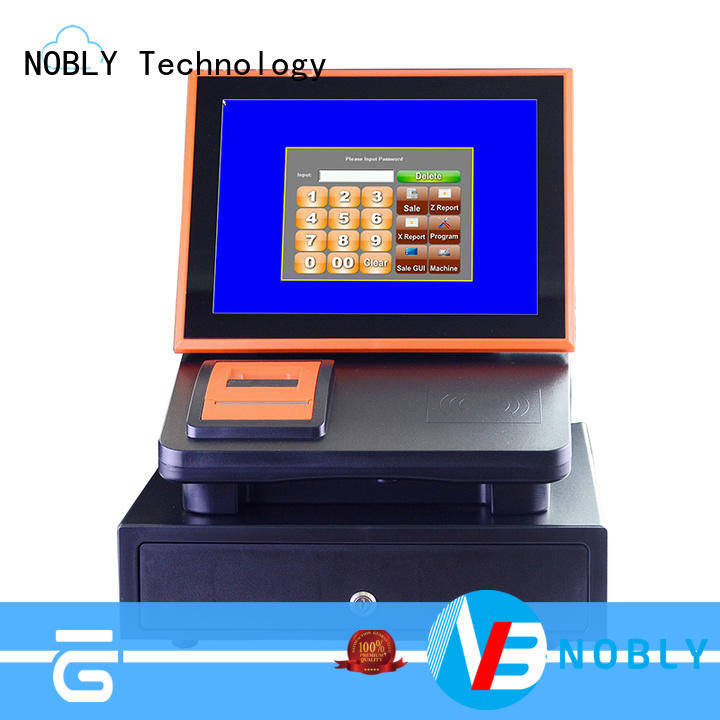 high stability 12 inch cloud touch screen cash register nobly resources for F&B catering