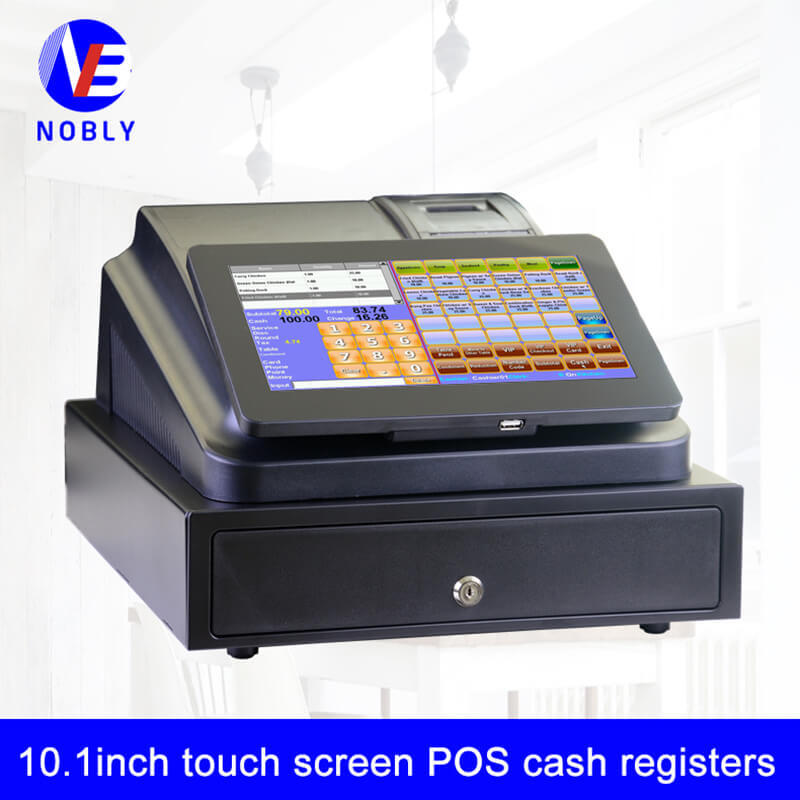 NOBLY single 10.1 inch touch screen cash register C86D with cash drawer simple POS