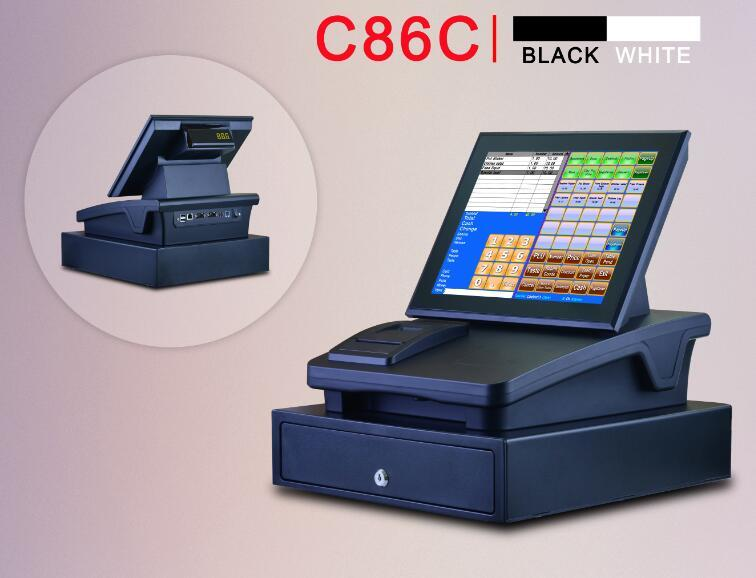 C86C 12inch touch screen cash register,all in one, plug and play